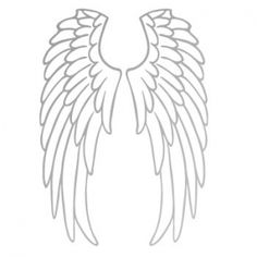 Black hot-fix stretch wings - Tattoos Angel Wings Art, Angel Wings Drawing, Angel Outline, Beaded Embroidery, Embroidery Designs, Diy Angels, Angle Wings, Silhouette Portrait, Stencil Art