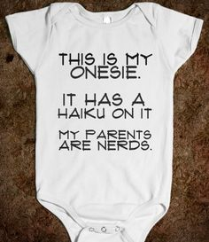 HAIKU one-piece. My child will have one of these!