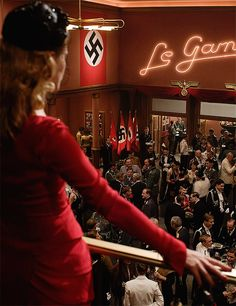 - What are we talking about? - Filling the cinema with Nazis and burning it to the ground. - I'm not talking about that. You're talking about that.
