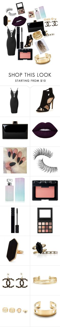 """""""Untitled #114"""" by brunagzilli on Polyvore featuring Lime Crime, Trish McEvoy, Calvin Klein, NARS Cosmetics, Gucci, Jaeger, Chloe + Isabel, Chanel, Stella & Dot and LULUS"""