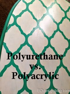 Polyurethane vs Polyacrylic. There's a BIG difference! Find out when you should use which one!