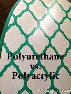 Polyurethane vs. Polyacrylic www.bdddesignblog.com #bddesignblog #polyacrylic #polyurethane