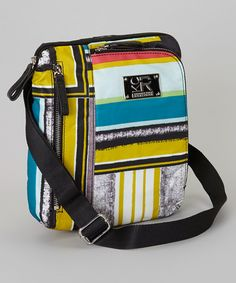 Take a look at this Yellow & Blue Stripe Clinton Crossbody Bag by Kenneth Cole Reaction on #zulily today!