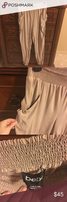 bebe jogger pant great condition!!  very breathtaking and soft .. ..worn once for business s party bebe Pants Leggings