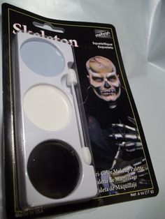 Skeleton Halloween Makeup Kit Three Colors to Make a Skeleton Face #Mehron