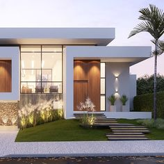 87 most popular modern dream house exterior design ideas 16 Contemporary House Plans, Modern House Plans, Contemporary Design, Modern Art, Minimalist House Design, Modern House Design, Luxury Modern Homes, Luxury Houses, Dream Houses