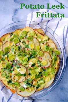 This Potato Leek Frittata is more similar to a quiche, with a potato crust and great flavor from the leeks. Serves 4-6. | uprootfromoregon.com