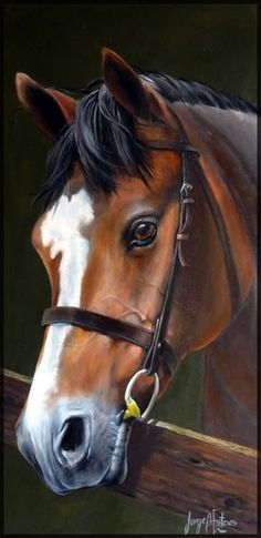 Very pretty horse painting.