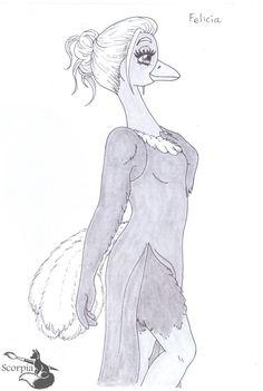 Felicia the ostrich by elleboe.deviantart.com on @DeviantArt