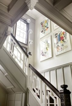 eclectic modern tudor entry stair designed by LDa Architecture & Interiors via houzz