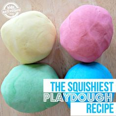 The Best Playdough Recipe - Kids Activities Projects For Kids, Diy For Kids, Cool Kids, Crafts For Kids, Kids Fun, School Projects, Diy Projects, Summer Crafts, Fun Crafts