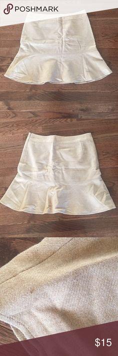 GAP wool peplum skirt GAP camel brown wool peplum skirt. Small stain bottom right (photo'd). At or above knee GAP Skirts