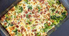 Broccoli and Ham Breakfast Casserole