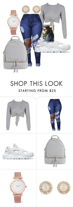 """""""Back to school"""" by chantel-darrisaw on Polyvore featuring NIKE, MICHAEL Michael Kors, Larsson & Jennings and Kate Spade"""