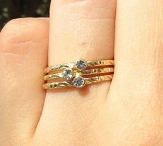 Textured Ring With Zircon Zircon Ring micron by ZmirArts Sparkly Jewelry, Delicate Jewelry, Delicate Rings, Dainty Ring, Gold Filled Jewelry, Trendy Jewelry, Handmade Jewelry, Fashion Jewelry, Anillo Michael Kors