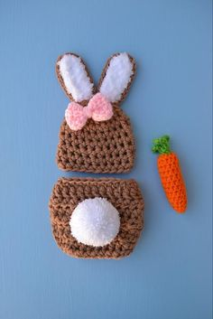 001917c4c4679 Crochet Newborn Baby Boy Girl Bunny Outfit Set Costume Baby Bunny Hat And  Diaper Cover Set