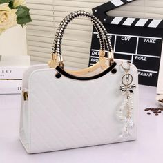 dd5d32e78735 brand bag cute tote 2017 New Fashion Designer Large PU Leather Tote Shoulder  Bag Handbag Ladies Messenger chain plaid