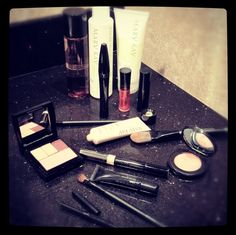 This is what my counter looks like when I get ready. Have to have my Mary Kay products. Do you have your Mary Kay products?