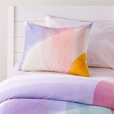 Kids Sheet Sets, Kids Sheets, Watercolor Bedding, Kids Watercolor, Pink Toddler Rooms, Rainbow Bedding, Cute Room Decor, Kids Bedroom Furniture, Comfy Bed