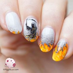 Grim Reaper Nail Art Piggieluv