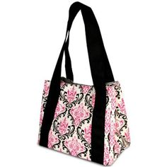 Fit & Fresh Venice Insulated Designer Lunch Bag with Ice Pack, Pink/Black $14.51