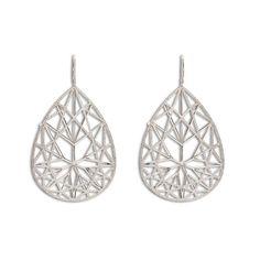 Jack Vartanian Brilliant earrings lined with diamonds.