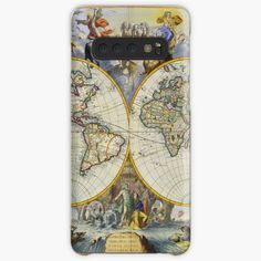 'vintage map of the world' Case/Skin for Samsung Galaxy by ModernFaces Galaxy Design, Map Design, Style Snaps, Iphone Wallet, Sell Your Art, Protective Cases, Samsung Galaxy, My Arts, Ink