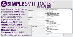 Simple SMTP Tools . With this plugin you can control some elements of sending emails through WordPress mailer (wp_mail function). You can adjust from name and email and avoid potential problems some mail server have with generic email sender WordPress