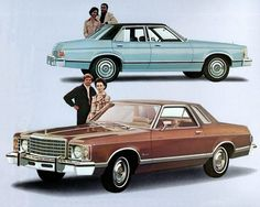1975 Ford Granada - the one on the bottom I had....and I miss it dearly....:(