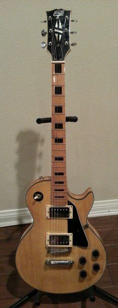 Hondo Vintage Single Cut Electric Guitar Blonde with Black Inlays