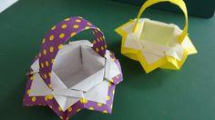"""折り紙「バスケット」3""""Basket""""Origami3"""