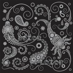 """Some black paisley that has an almost """"biopunk"""" feel to it.  I imagine natural systems when I stare at it."""