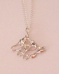 Fused Silver Pendant Twist n Turn  £48.00