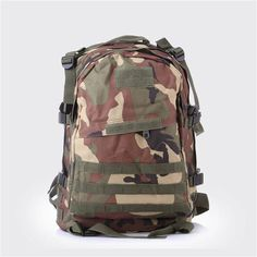 Men's Out door Canvas Backpack Big capacity Black Military Tacti cal Backpacks Camouflage Backpack Travel Bag 40 L