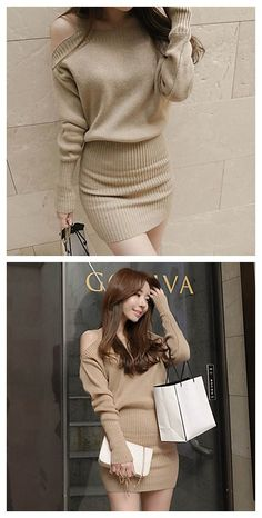 Sexy / Casual Long Sleeve short dress. What a Korean dressing style. Get it in our Black Friday deal right now! Last call to our Lightning Deals you can enjoy! Exciting Deals of the Day, and savings on your wallet