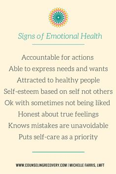 Self care - what are you aiming for? Emotional health, wellbeing & balance.