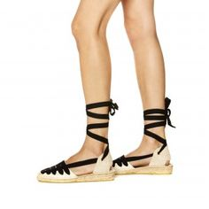 Soludos Laced Demi Wedge Sandal in Natural - Soludos Espadrilles