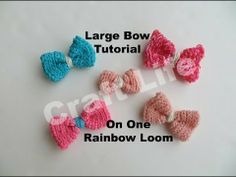 LARGE BOW on One Loom. Designed and loomed by Jacy at Craft. Click photo for YouTube tutorial.