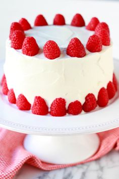 Almond Raspberry Layer Cake- small 6inch