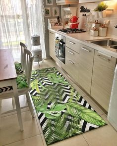 The Power of Constantly Believing in Real Estate - Kitchen decor ideas Kitchen Rug, New Kitchen, Kitchen Decor, Kitchen Modern, Design Rustique, Western Kitchen, Wall Cupboards, Diy Carpet, Hall Carpet