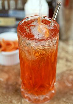Aperol Tequila Swizzle from 'Savory Cocktails' by Greg Henry | Creative-Culinary.com