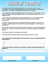 Download ParentChild Behavior Contracts  Behavior Contract