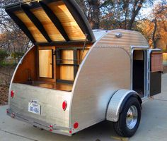 Biscayne teardrop camper trailer with roof top tent and ...