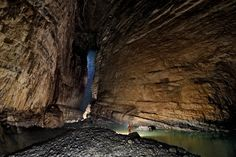 Giant caves in Wulong County, China
