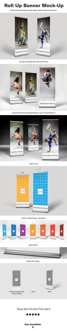 Roll Up Banner Mock-Up by Agmih Redouane, via Behance