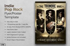 Indie Pop Rock Flyer Template | The Hungry JPEG