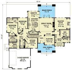 Plan 23176JD: Intricate Craftsman House Plan for Corner Lots ...