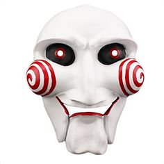 Fashion Cosplay Saw Jigsaw Puppet Mask for Halloween Masquerade Party