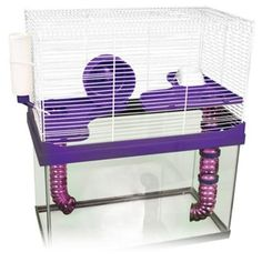 Amazon.com : Ware Manufacturing Small Animal High Rise Pet Cage, 10-Gallon (Assorted Colors) : Hamster Cage Topper : Pet Supplies