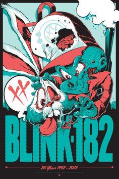Blink-182 20 year anniversary poster, Ken Taylor